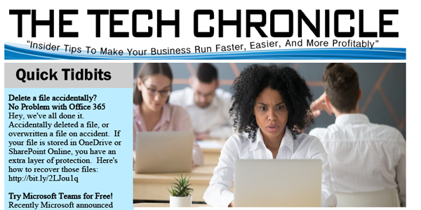 The Tech Chronicle – August 2018 Newsletter