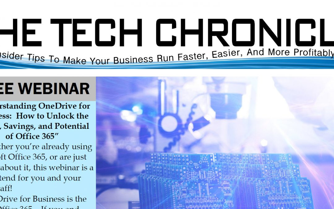 The Tech Chronicle – January 2018