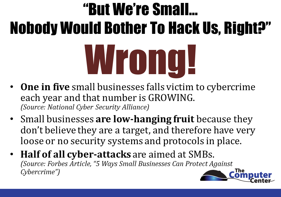 We're too Small nobody would bother to hack us, Right?